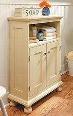 Cottage Style Storage Cabinet Downloadable PDF Woodworking Plan, Bathroom  Furniture,solid Wood,