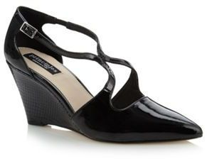 3ebab1847c Ben de Lisi Principles by Designer black patent mid wedge court shoes on  shopstyle.co.uk