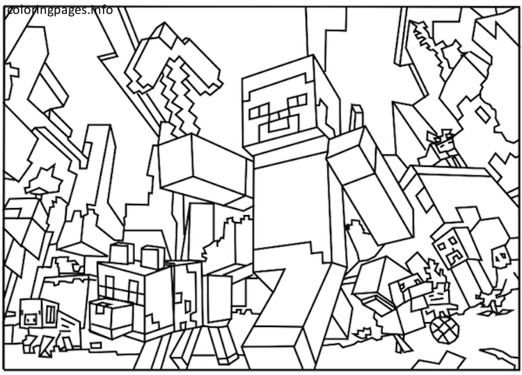 Minecraft 1137 Coloring Pages Coloring Moon In 2020 Minecraft Coloring Pages Ninjago Coloring Pages Snake Coloring Pages