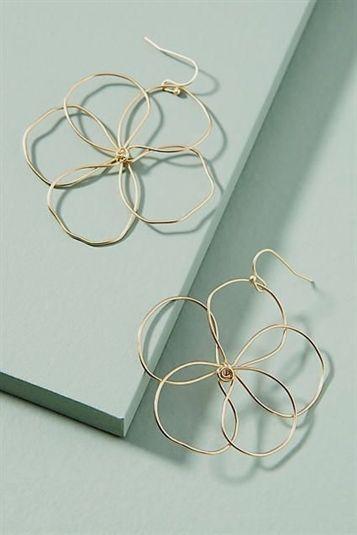 Anthropologie Tierra Wire Drop Earrings s4E1ukdkC