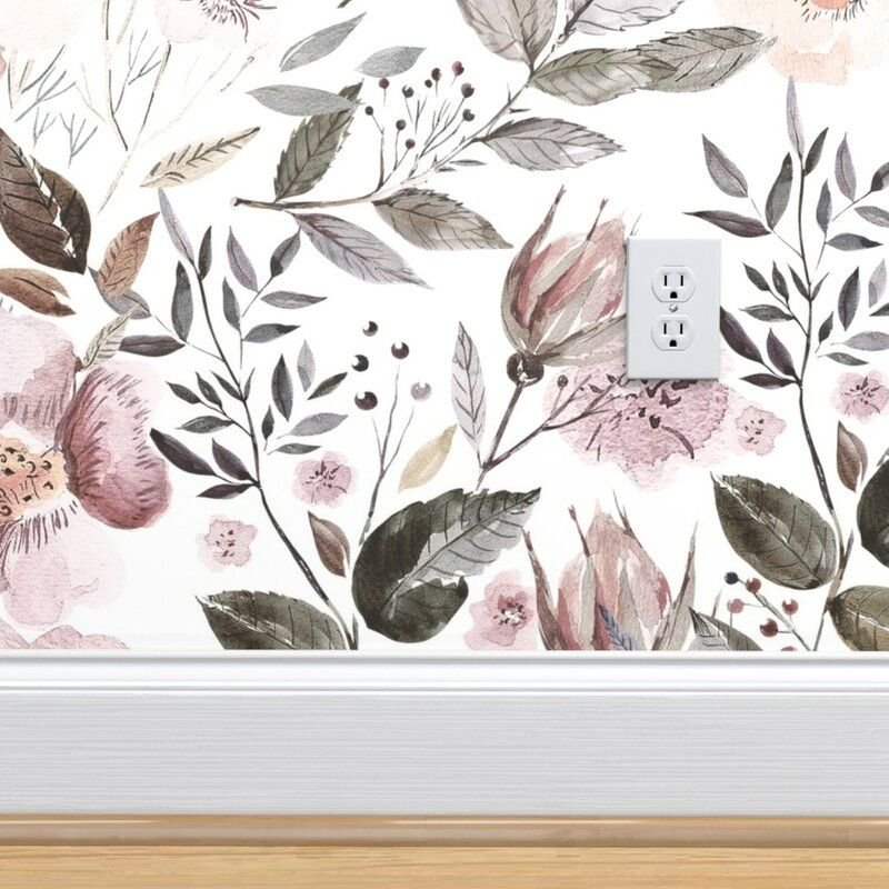 Wallums Wall Decor Octo 48 X 24 Satin Peel And Stick Wallpaper Tile Wayfair Peel And Stick Wallpaper Wallpaper Fabric Wallpaper