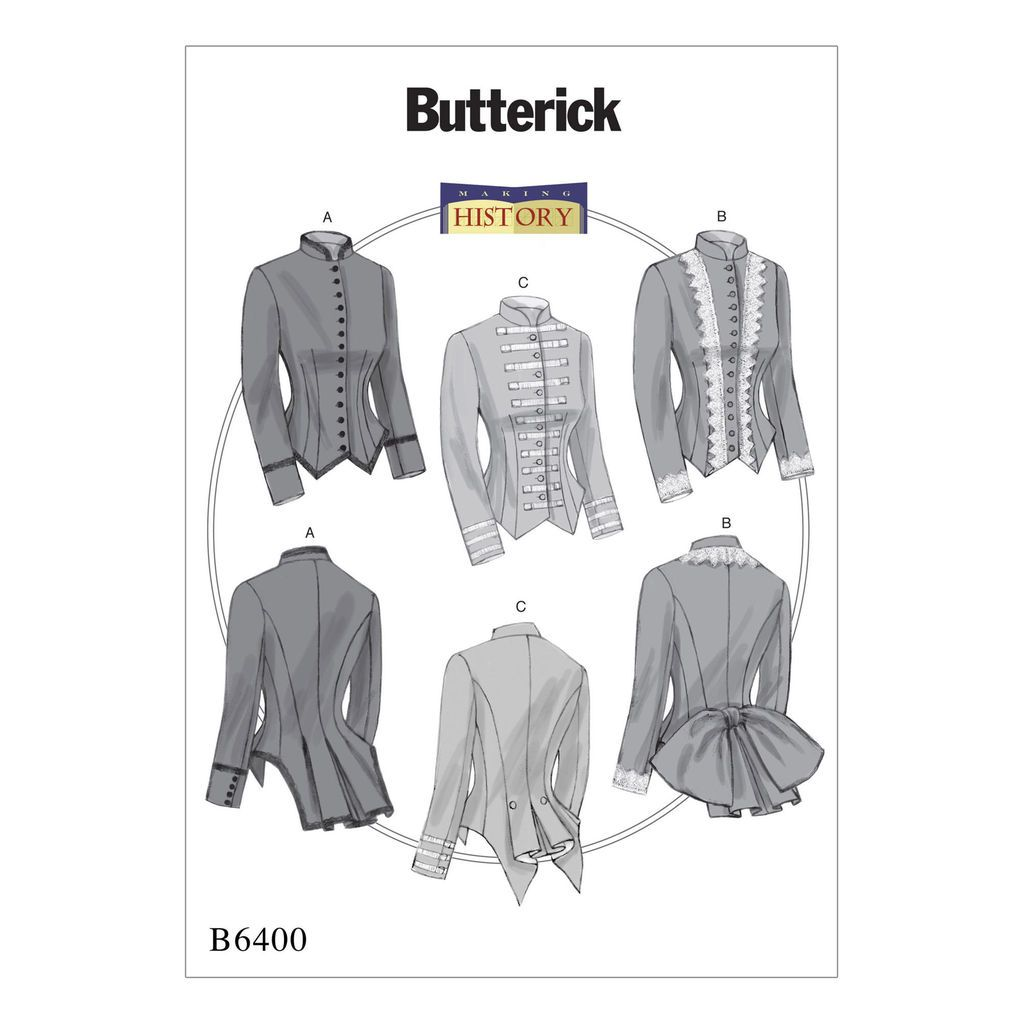 Butterick Pattern B6400 (14-16-18-20-22) | Front button