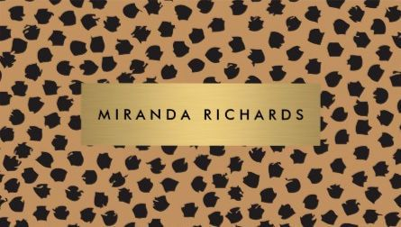 Luxe cheetah animal print confetti dots with gold bar business cards luxe cheetah animal print confetti dots with gold bar business cards colourmoves Images