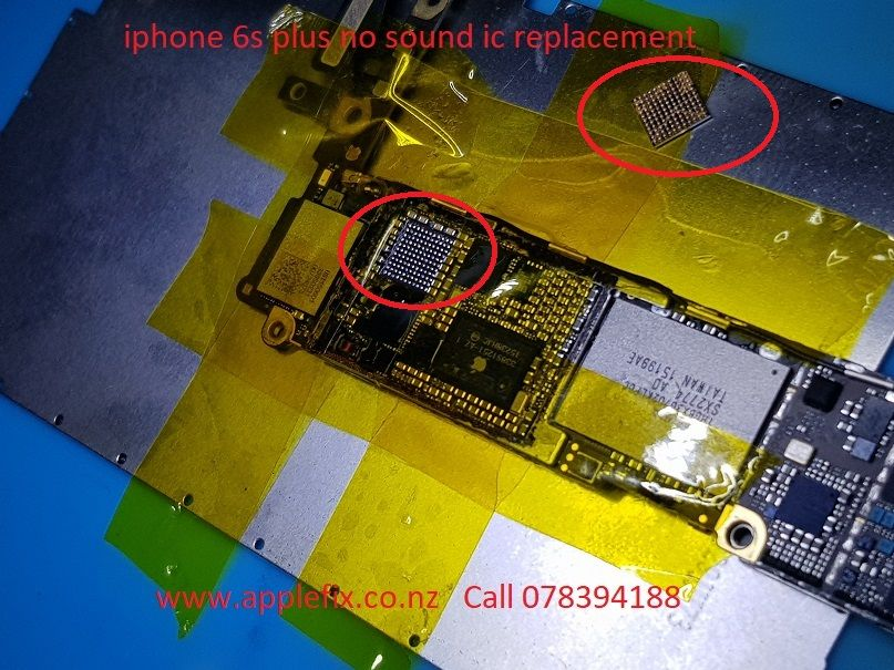 iphone speaker not working iphone 6s plus no sound audio ic replacement celus 2586