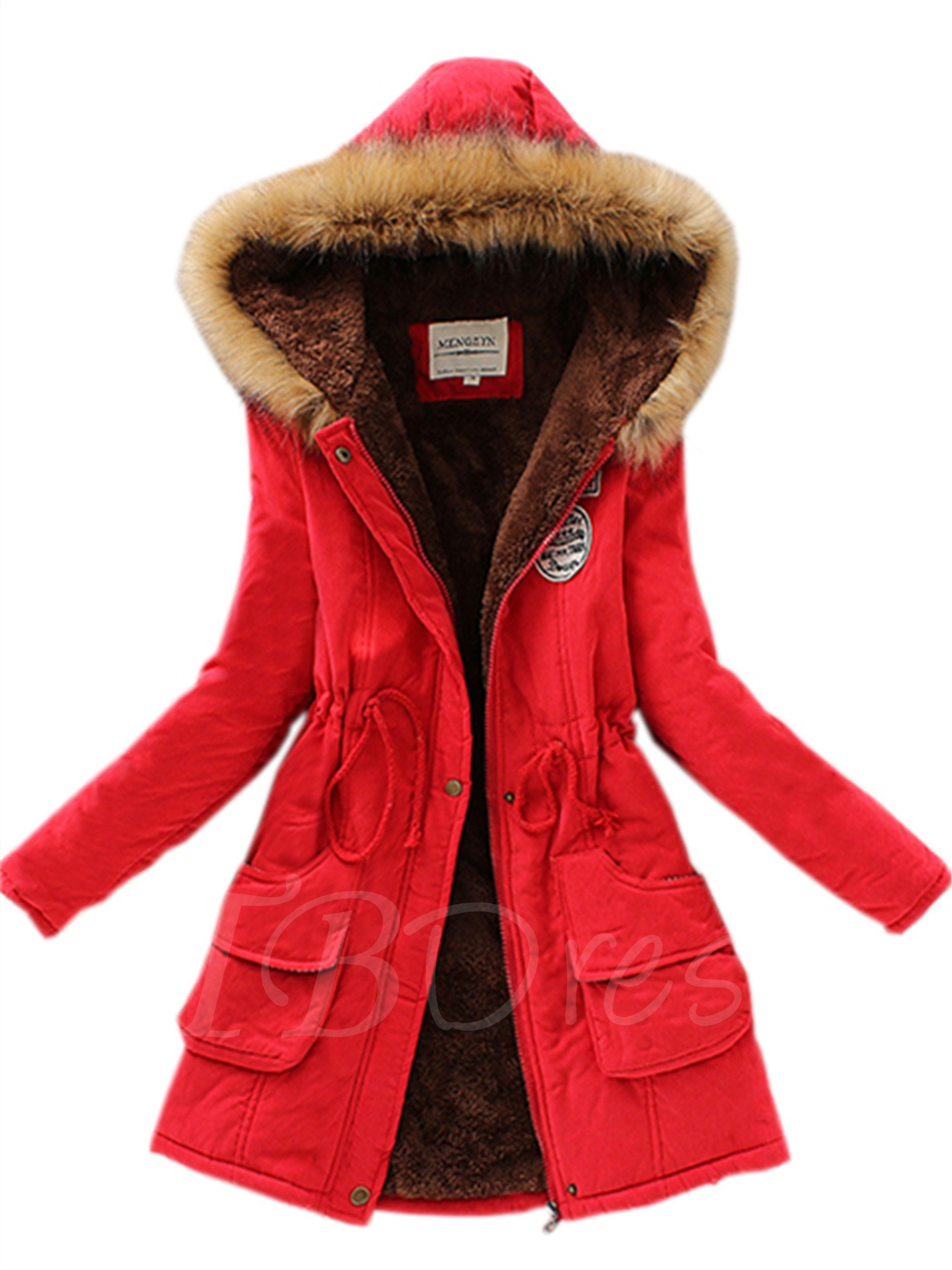 Lace Up Double Pockets Hooded Women S Cotton Overcoat Winter Coats Women Winter Jackets Women Hooded Cotton Coat [ 2800 x 2100 Pixel ]