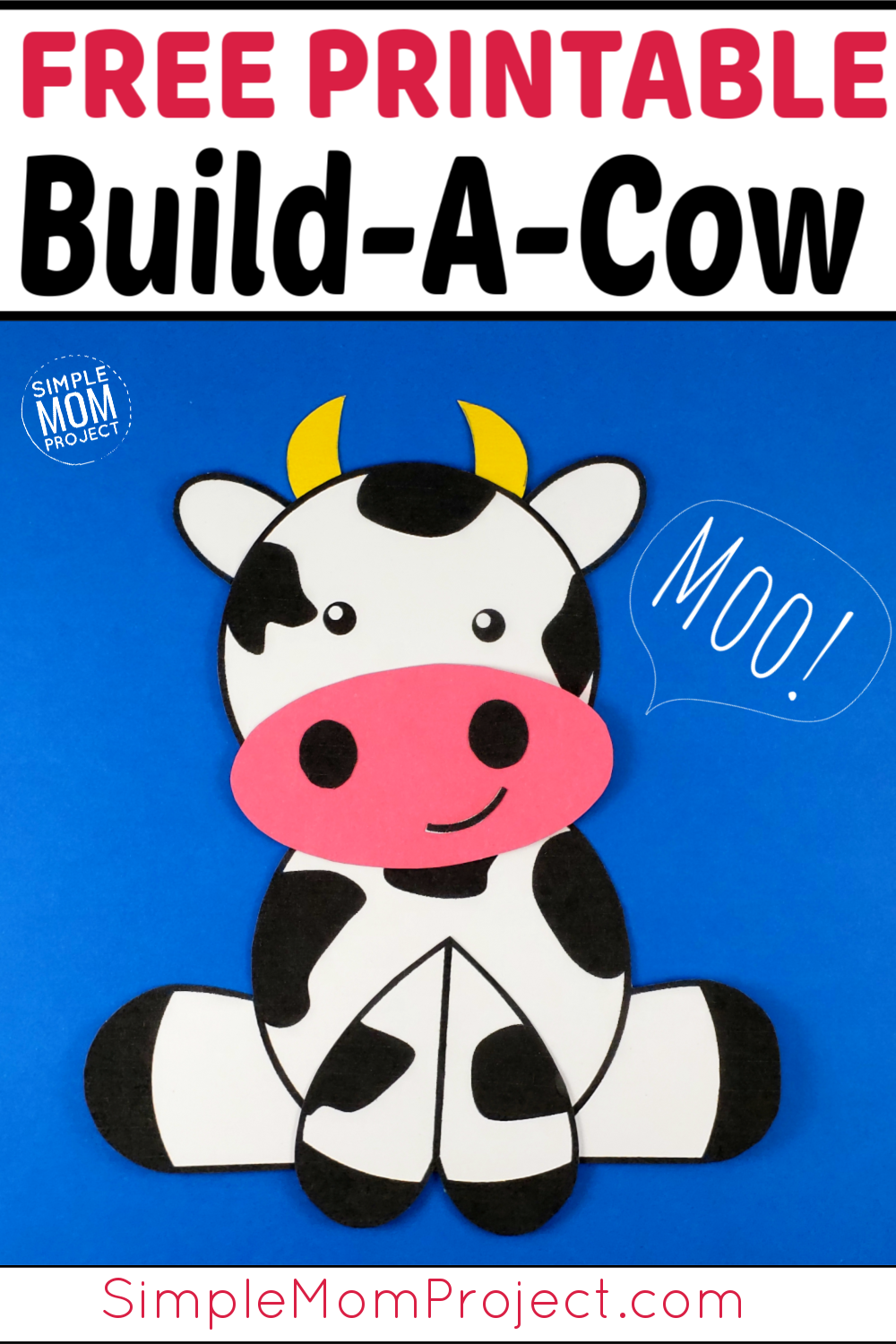 Cute And Fun Farm Craft Cow Art Project Cow Craft Farm Craft Pig Crafts [ 1500 x 1000 Pixel ]