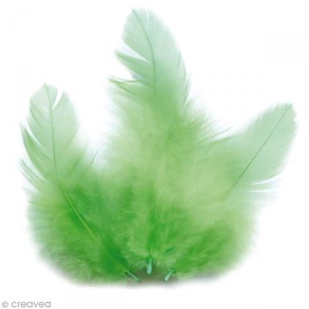 Plumes Coq Vert clair - 10 cm - 3 gr - Photo n°1