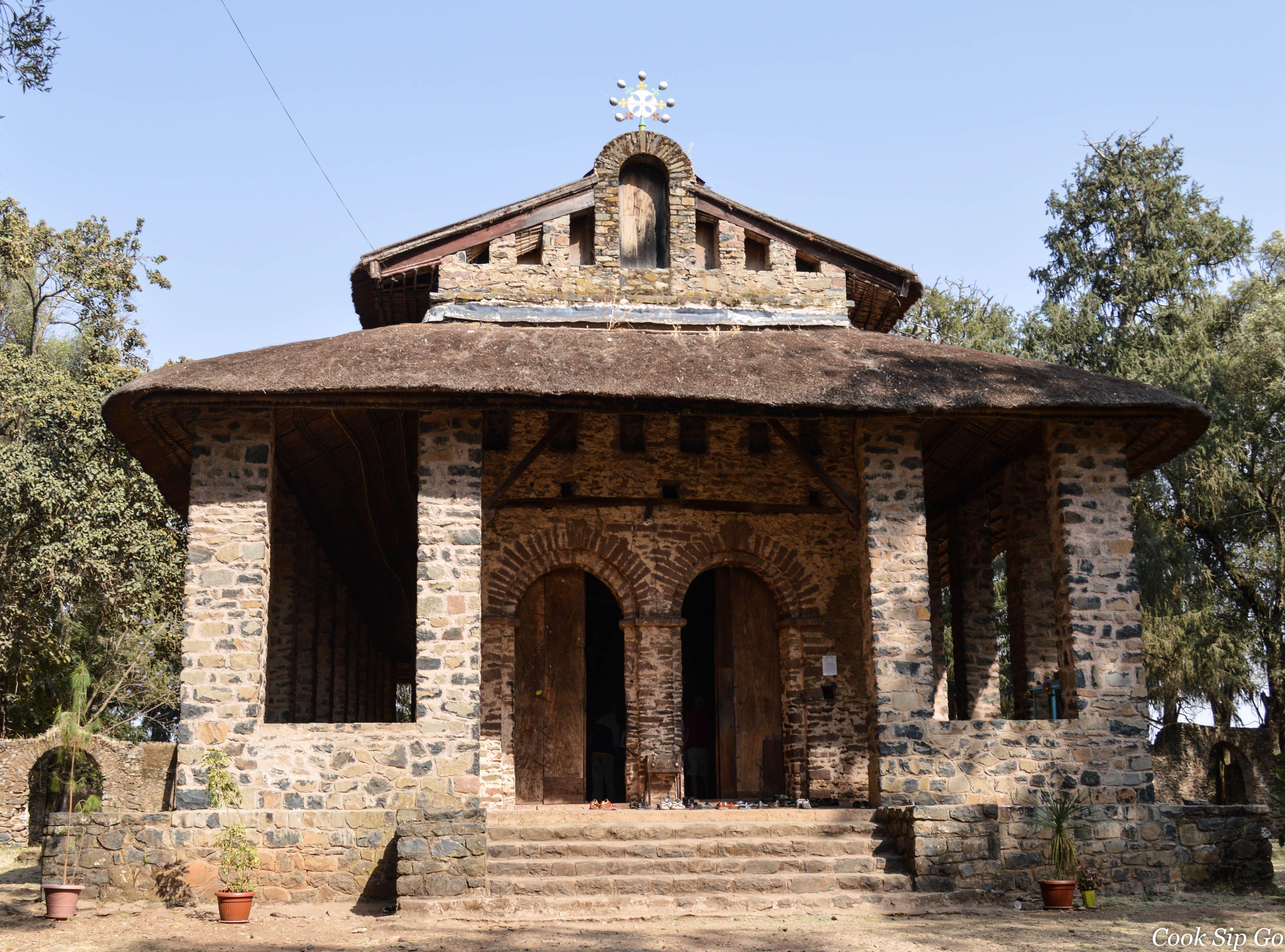 Debre Birhan Selassie Church Gondar Ethiopia Ancient Ruins Sacred Places Ethiopia