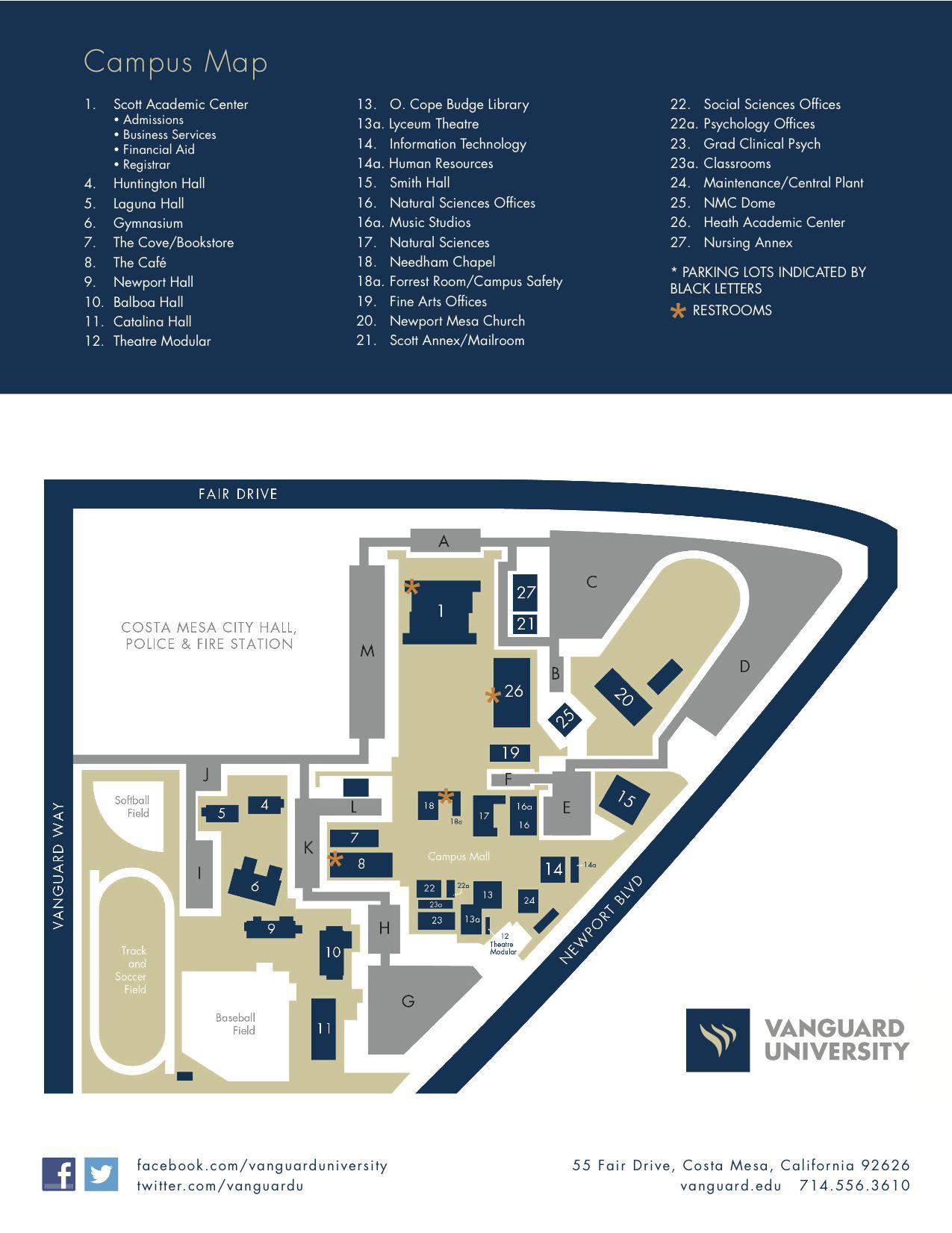 Map Of Vu Welcome2vu Freshmen Pinterest Campus Map