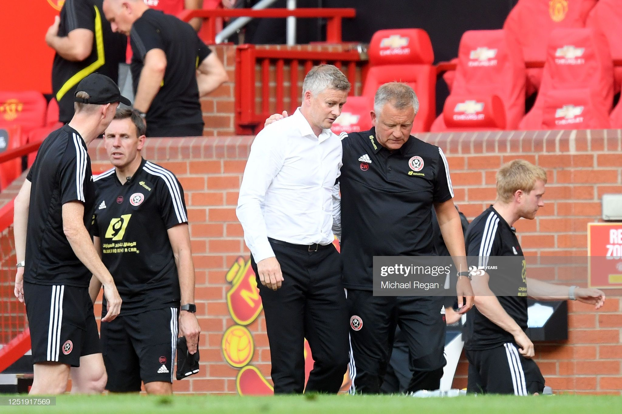 Ole Gunnar Solskjaer Manager Of Manchester United Interacts With In 2020 Ole Gunnar Solskjaer Manchester United Premier League Matches