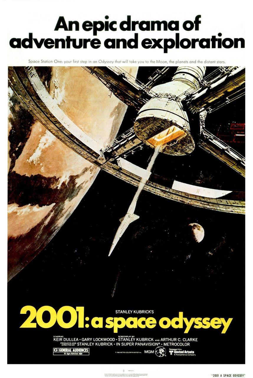 2001 L Odyssee De L Espace Affiche Cinema Films Retro Affiche Film