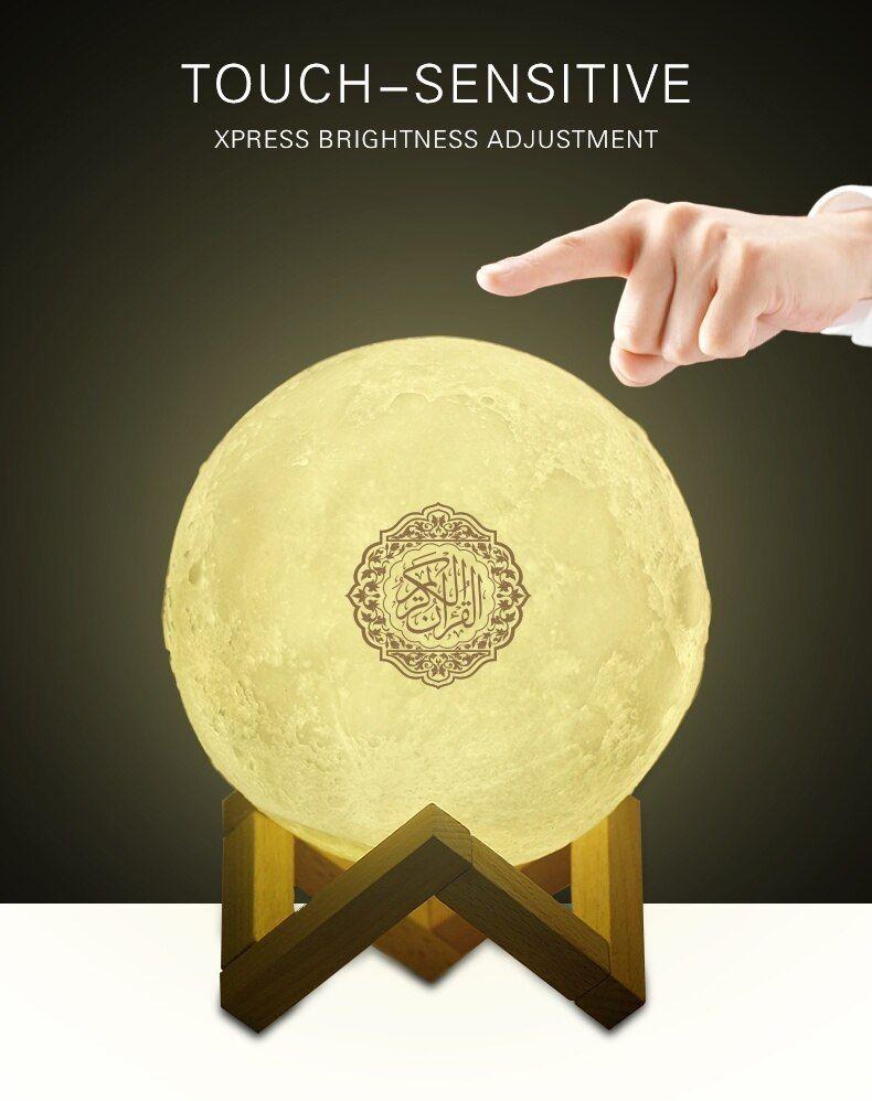 7 Colors 3d Moonlight Quran Speaker Wireless Bluetooth Speaker Touch Lamp Muslim Wireless Speakers Bluetooth Wireless Speakers Touch Lamp