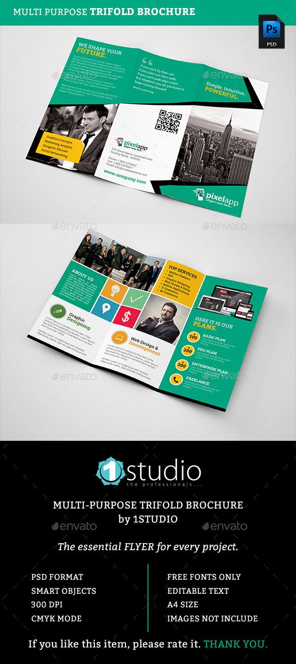 Corporate Trifold Brochure Brochures Pamphlet Design And Brochure