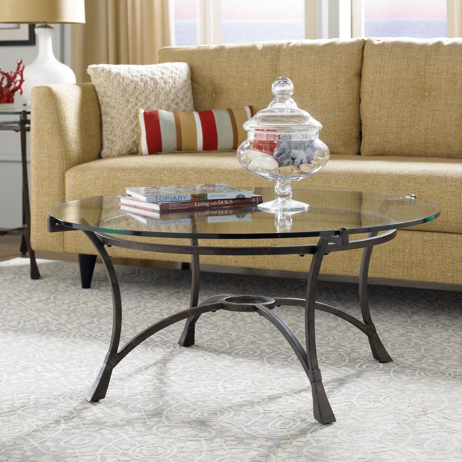Have To Have It Hammary Sutton Round Glass Top Coffee Table 157 99