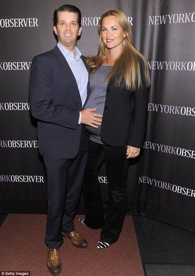Donald Trump Jr Cradles His Wife Vanessas Blossoming Baby Bump