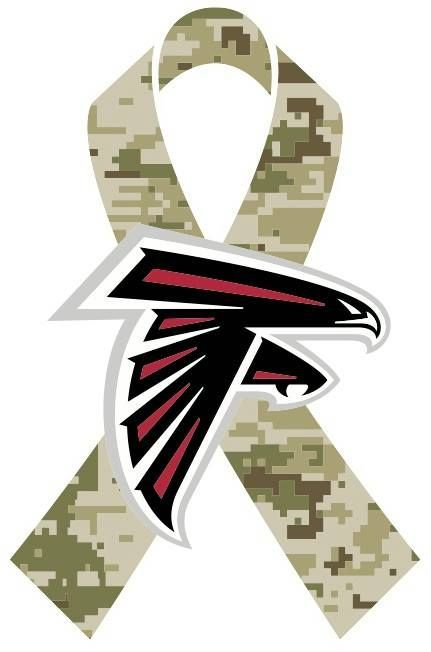 791b57f8ce6 Throughout the month of November, the Falcons will celebrate the NFL's  Salute to Service campaign #RiseUp
