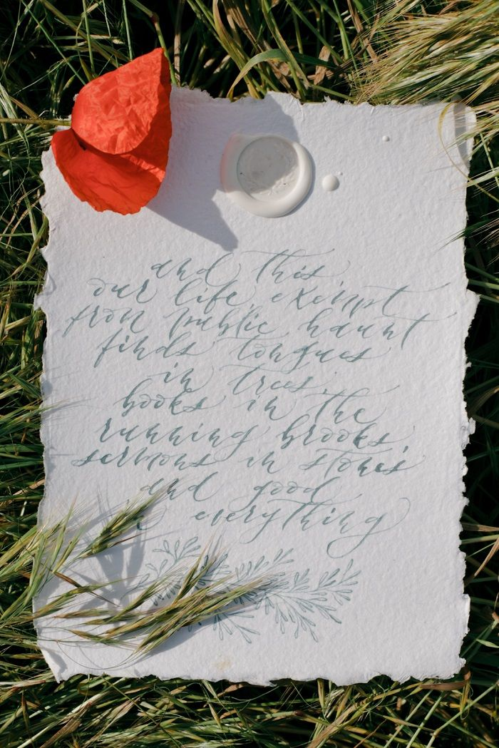 White wedding stationery and red poppy | fabmood.com