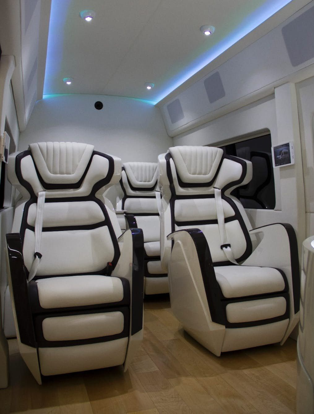 Ford Showcases Tricked Out Transit Van Luxury Car Interior