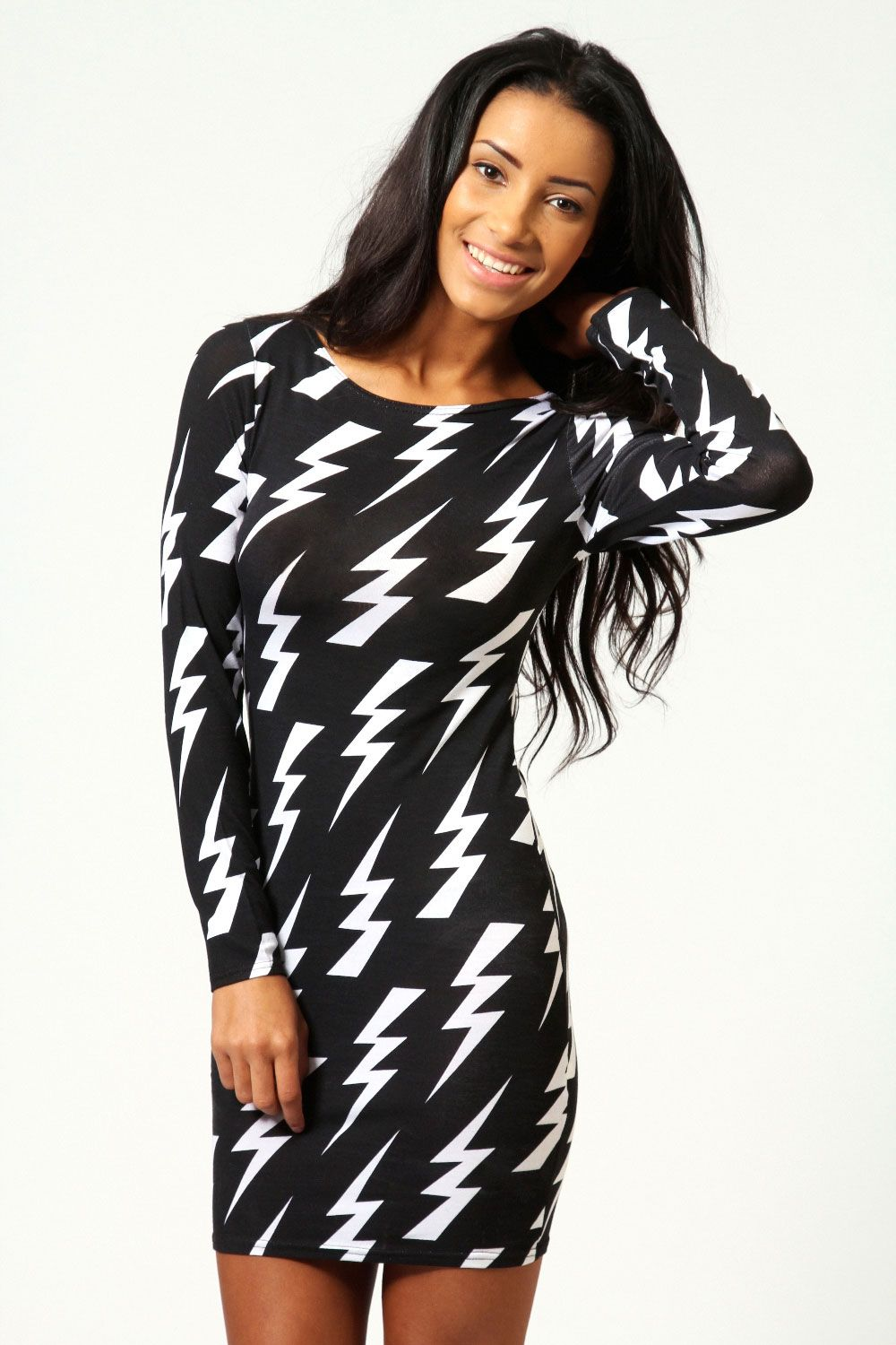 497c3ab3f04 lightning bolt bodycon dress