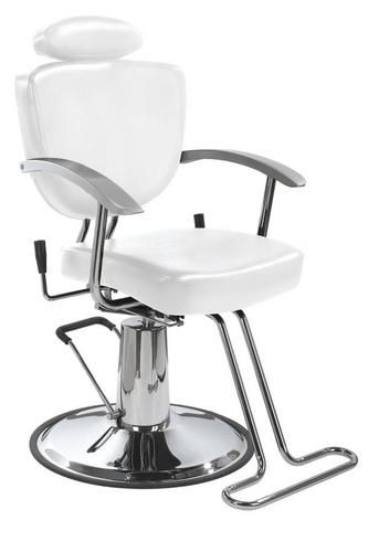 Superb Details About White All Purpose Hydraulic Recline Barber Bralicious Painted Fabric Chair Ideas Braliciousco