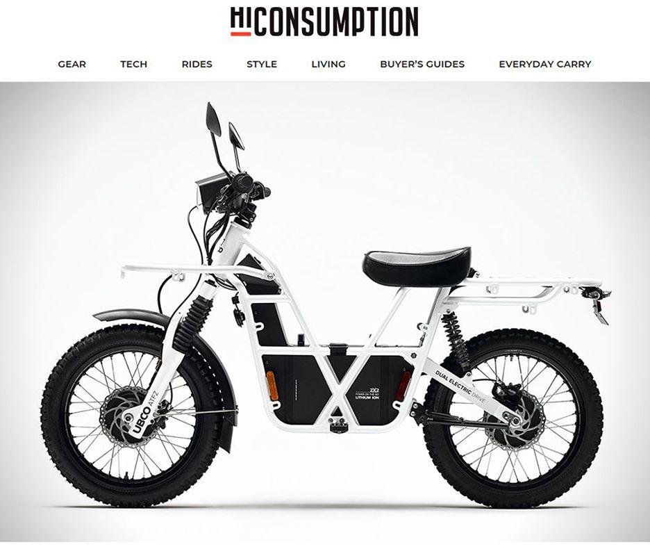 UBCO 2×2 DualSport Electric Bike HiConsumption Dual