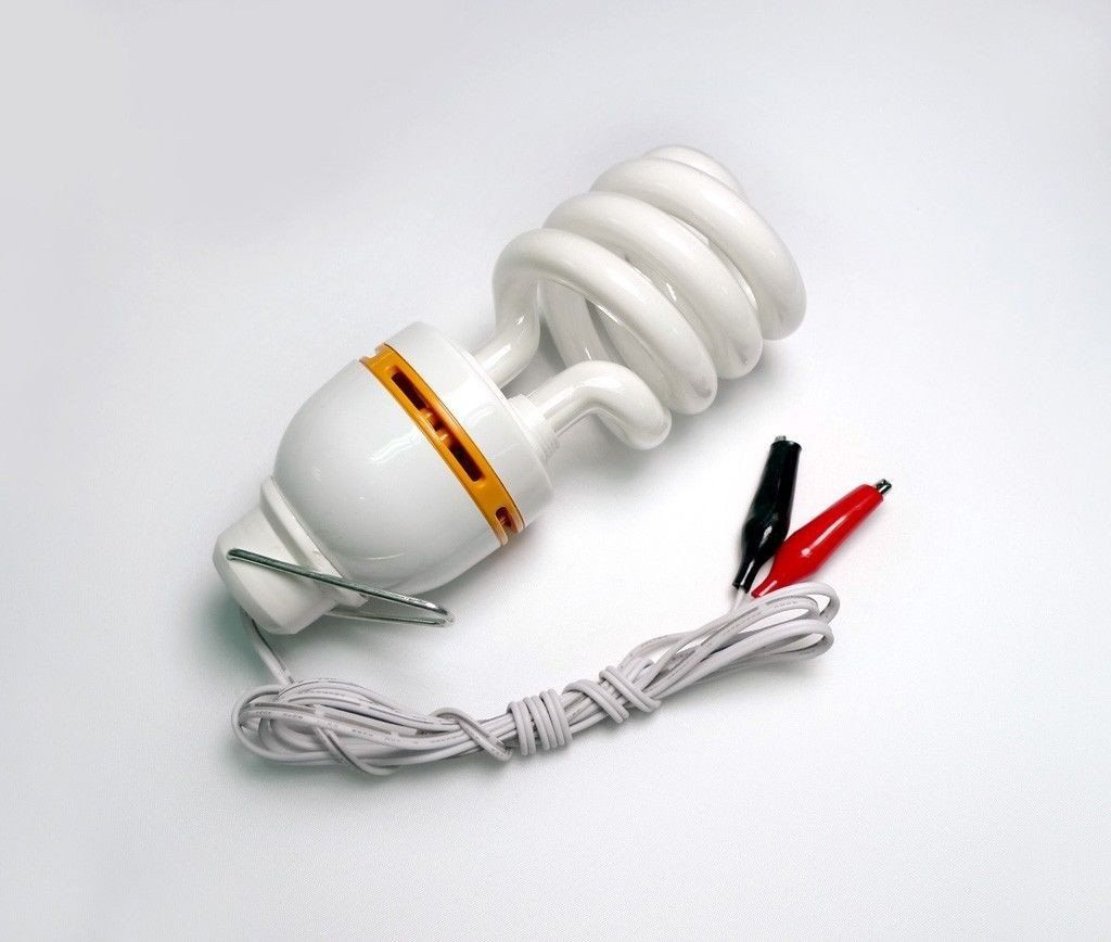 Dc 12v 15w Compact Fluorescent Light Bulb Low Voltage Cfl Battery Clips Camping Lowvoltage Energysaving Fluorescent Light Bulb Light Bulb Design Light Bulb