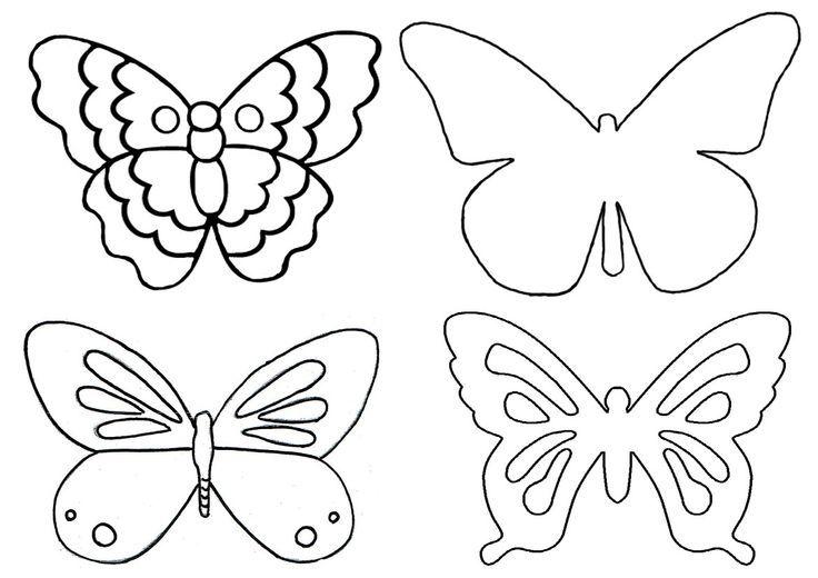 Kelebek Kaliplari Boyama Goruntuler Ile Kelebekler El Isi