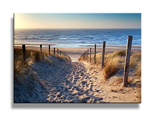 Footprints Beach Wall Art Oil Paintings Printed Pictures Beach