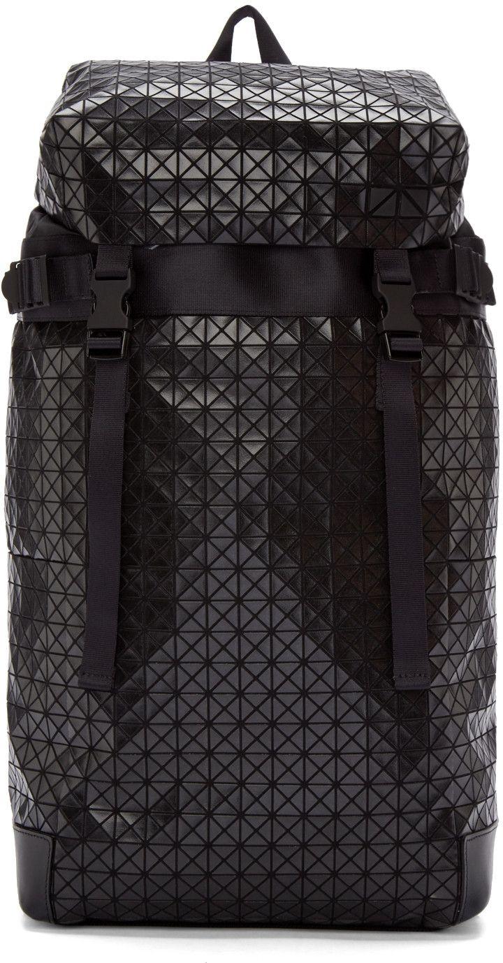 a94071a0b7b9 BAO BAO ISSEY MIYAKE Black Geometric Hiker Backpack.  baobaoisseymiyake   bags  canvas  leather  polyester  nylon  backpacks  cotton