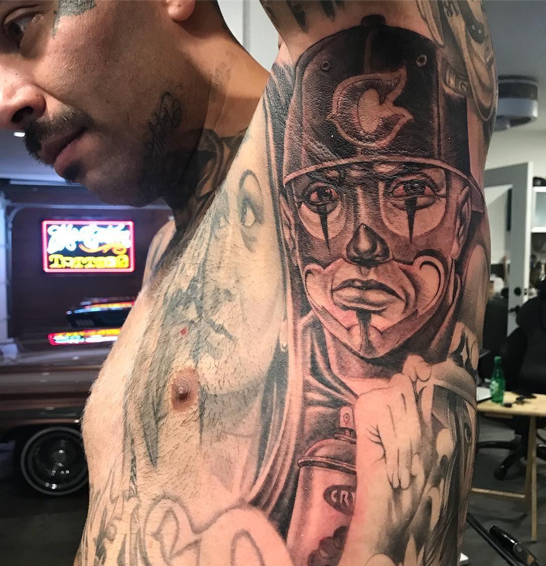 Shout To Placaso Mr Cartoon Tattoo Cartoon Tattoos Armpit Tattoo