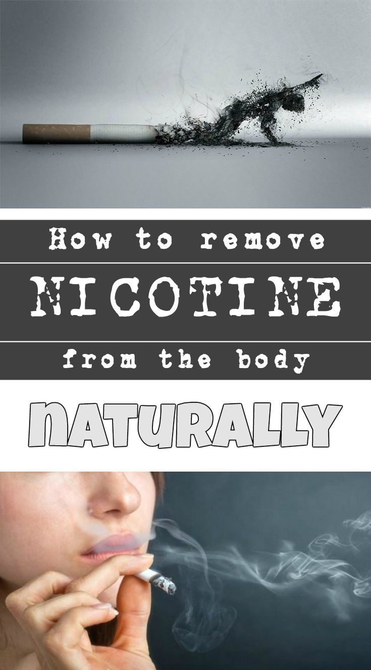 how to get rid of nicotine in the body