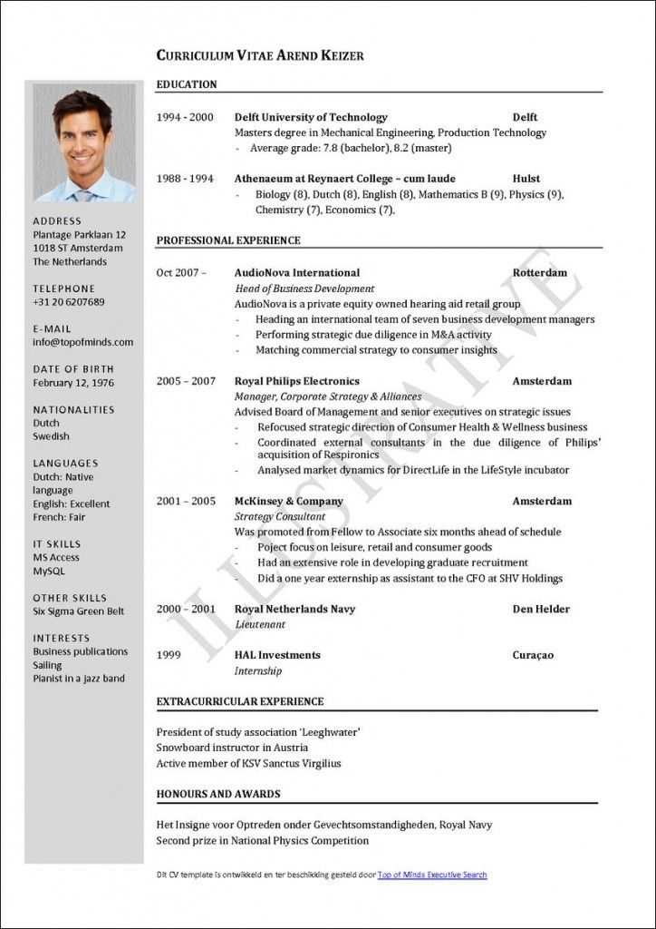 Do you need to write your own CV (curriculum viate) or resume - bartending resume template