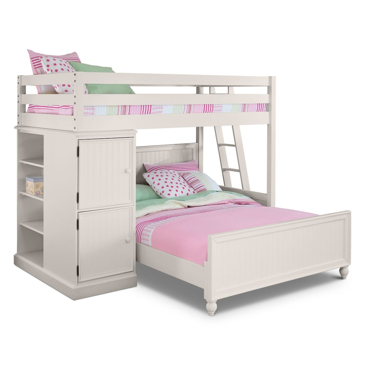 Colorworks Loft Bed With Bottom Bed Value City Furniture And Mattresses Loft Bed Value City Furniture White Loft Bed