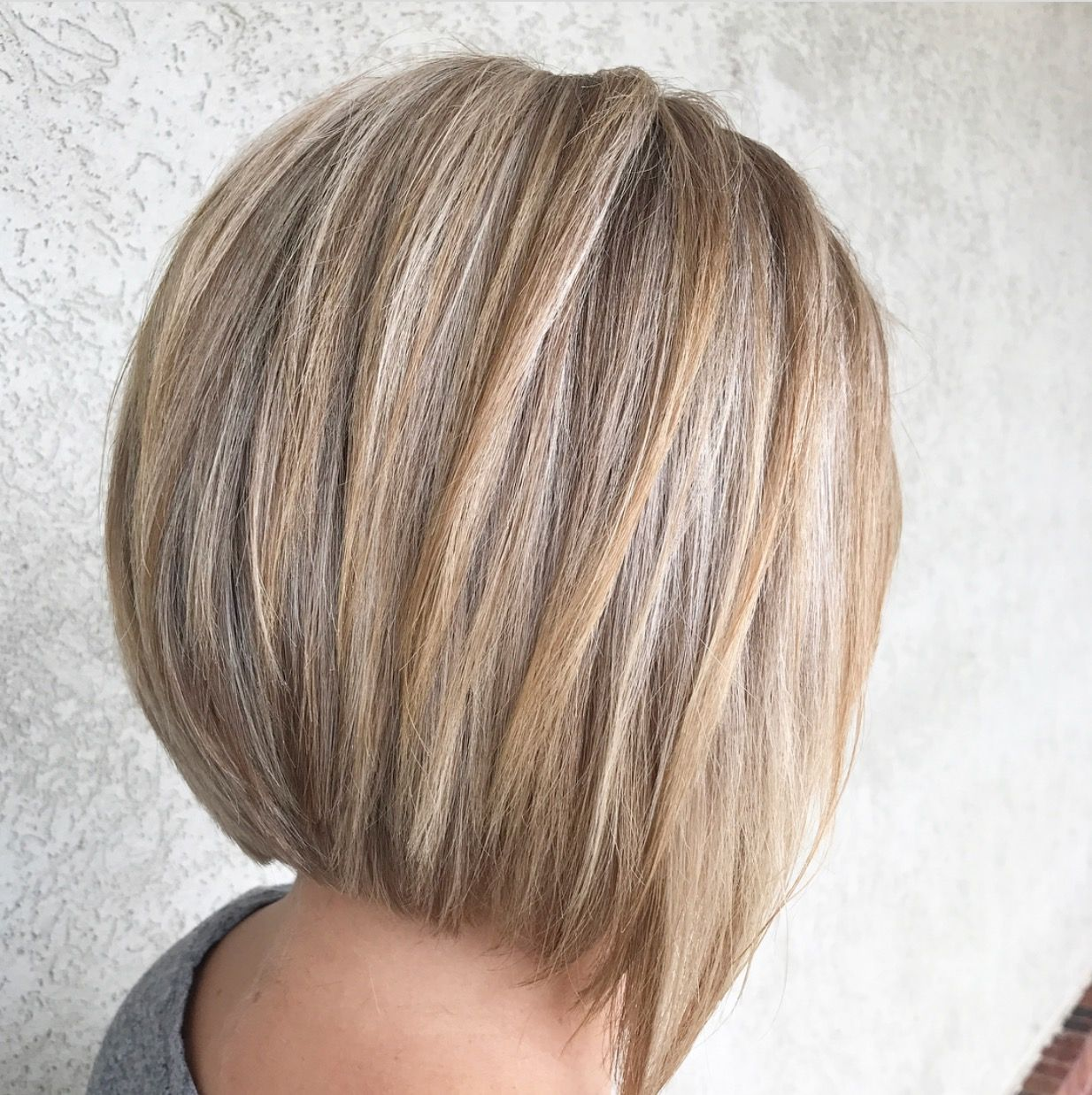 A Line Stacked Bob Haircut Highlights And Lowlights Hair Styles Stacked Bob Hairstyles Bob Hairstyles