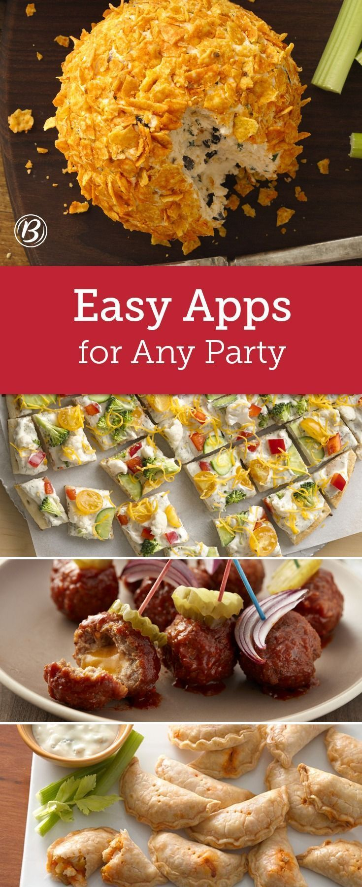 12 Easy Apps (So You Can Enjoy Your Own Party) | Appetizers, Yummy appetizers, Food drink