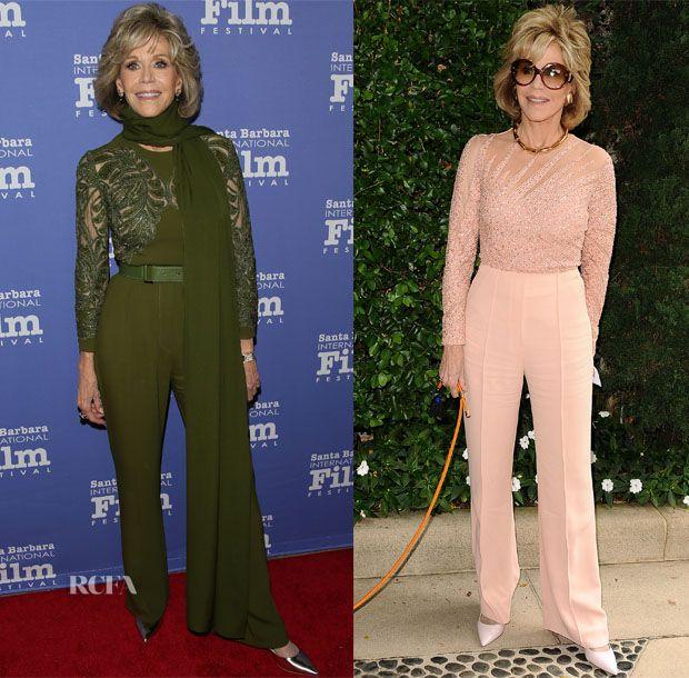 Jane Fonda In Elie Saab – Santa Barbara International Film Festival