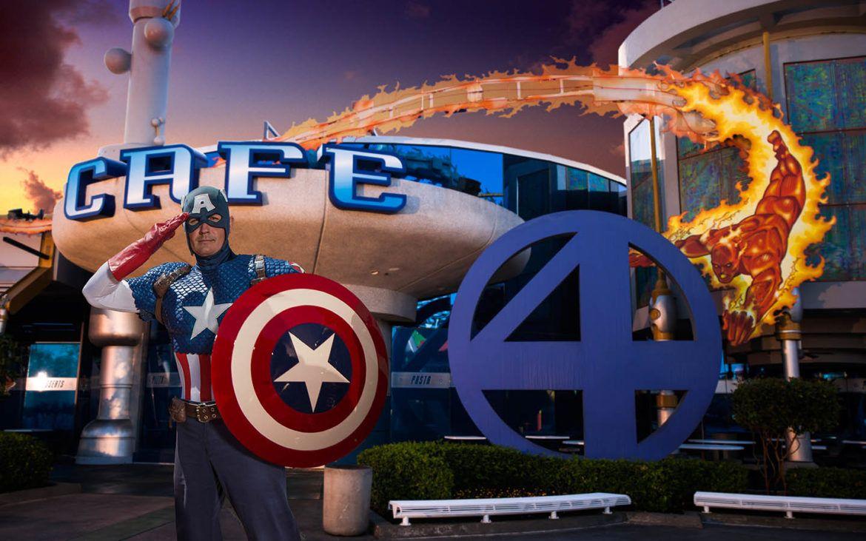 Marvel characters at Universal Orlando