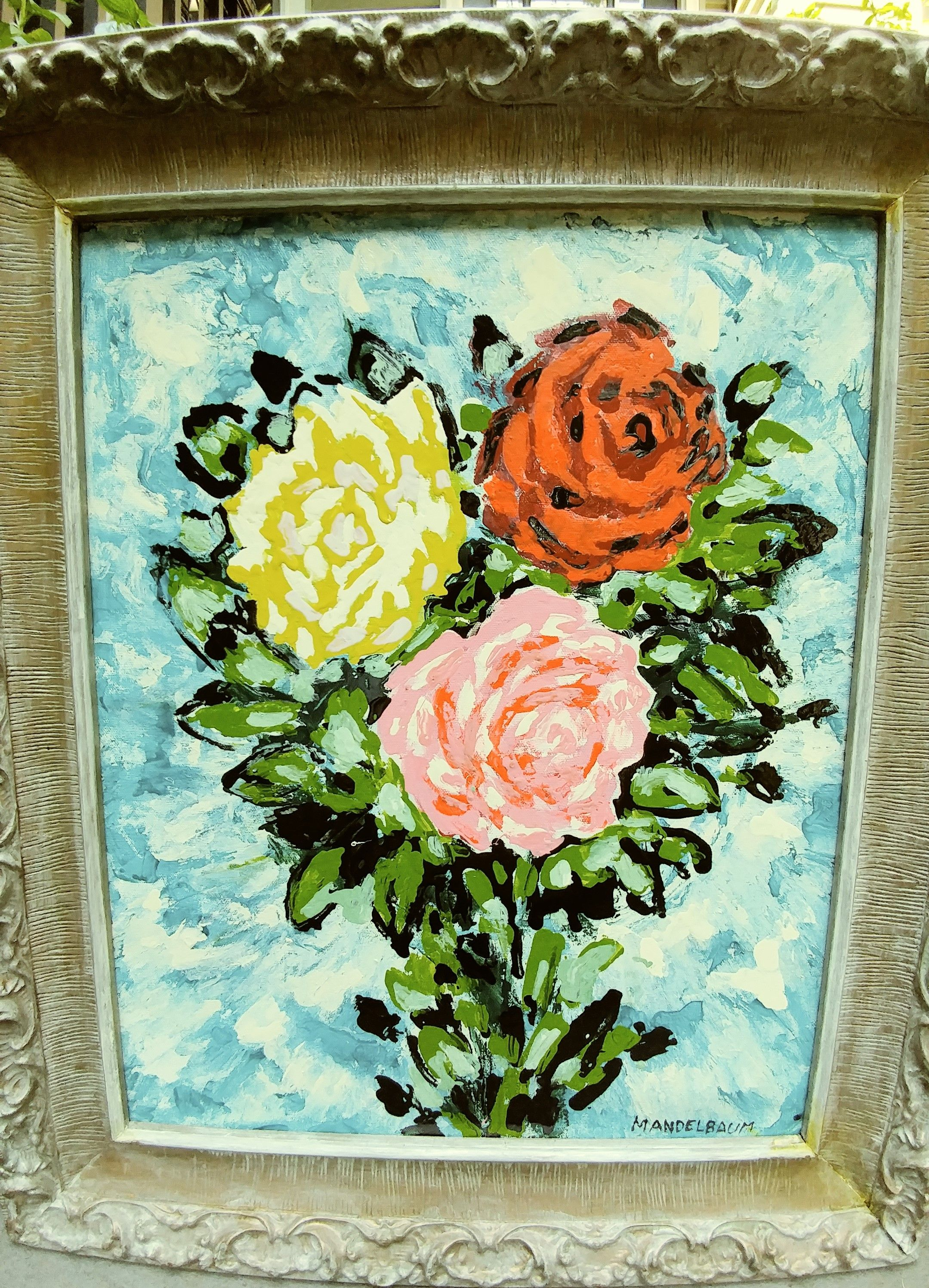 ELIZABETH MANDELBAUM floral painting 56_EM_A (A CHILD IS