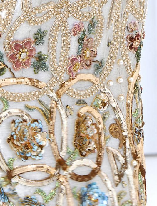 Haute couture embroidery fashion pinterest