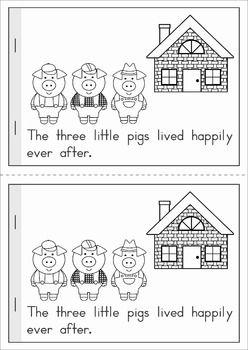 The Three Little Pigs emergent reader