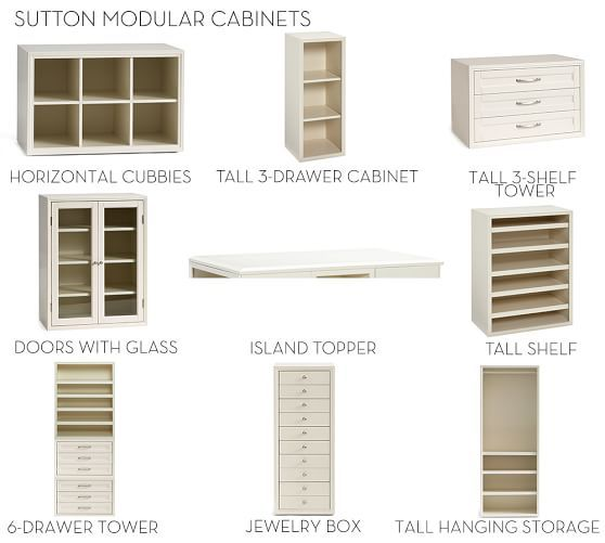 Jewelry Box 14 X 36 Build Your Own Sutton Modular Cabinets Pottery Barn