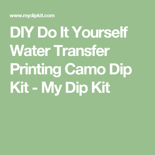 Prym1 MP | Water transfer printing, Water transfer, Hydro ...