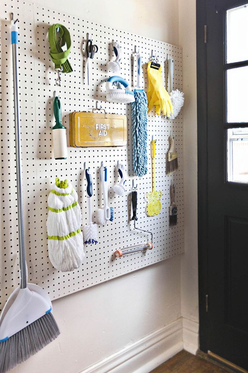 10 Unique Ways To Use Pegboards In Your Home Storage Solutions