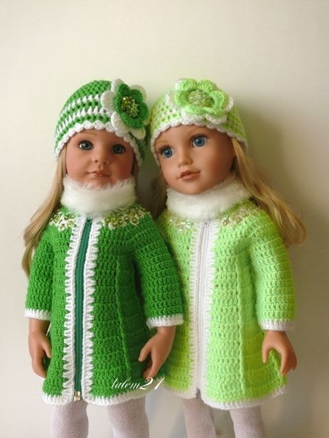 Dolls dessed for the Winter..love the colour!!...Gotz | Flickr - Photo Sharing!