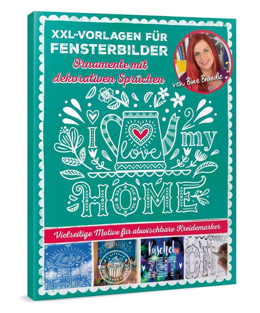 Xxl Vorlagen Fur Fensterbilder Ornamente Mit Dekorativen Spruchen Home Decor Decals Home Decor Book Cover