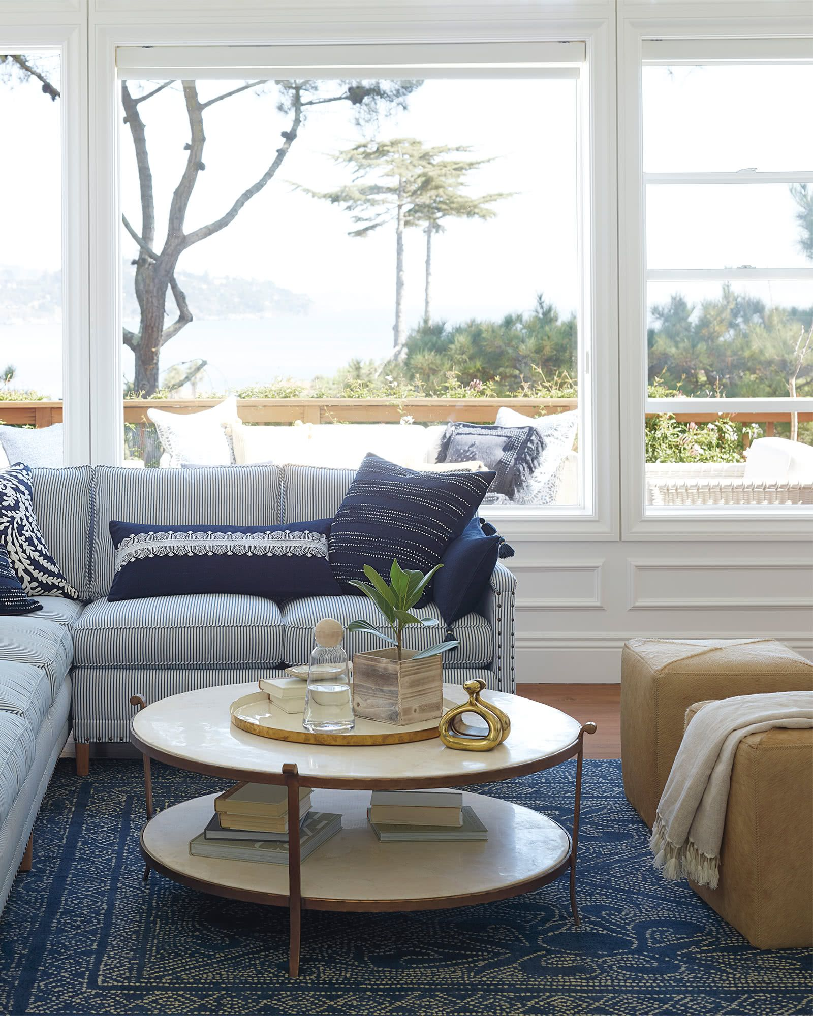 Pin By Michelle O Leary On Quick Saves In 2021 Blue And White Living Room Stone Coffee Table Home Decor [ 2000 x 1600 Pixel ]