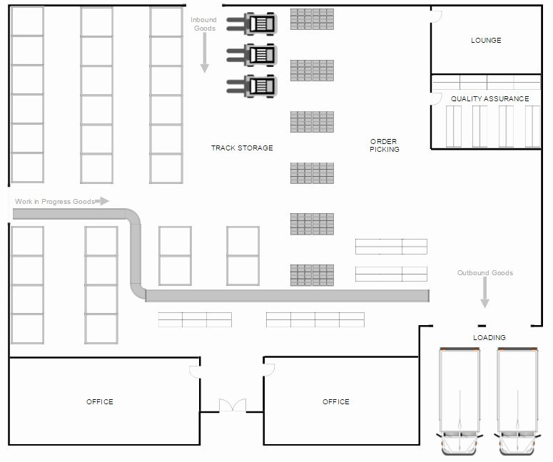 Powerpoint Floor Plan Template New Warehouse Layout Design