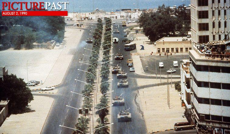 Picture Past August 2 1990 Iraq Invades Kuwait Iraq Kuwait War