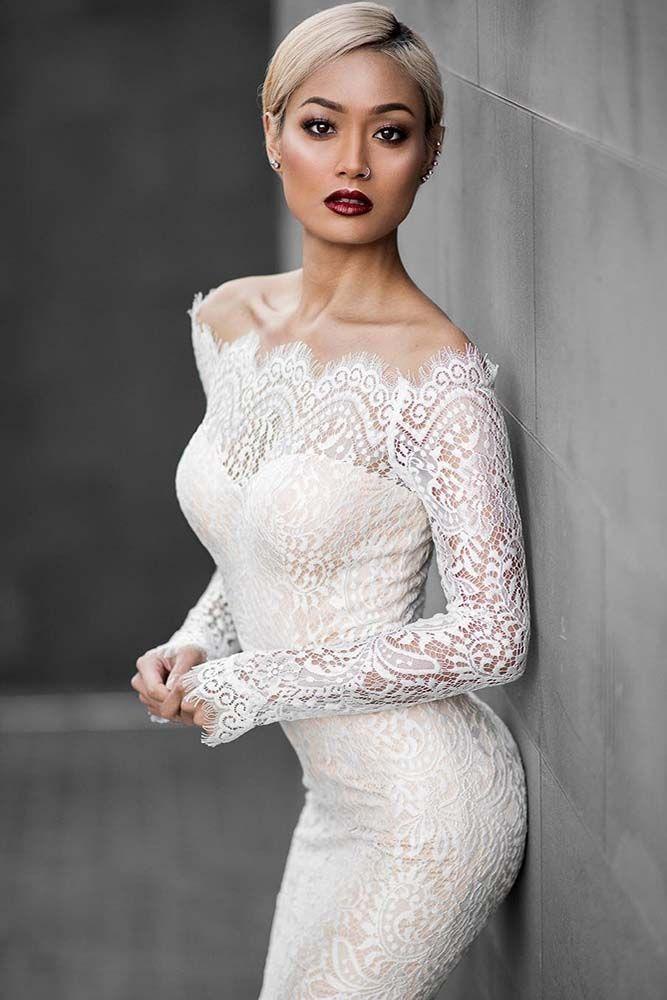 Blonde Short Wedding Dress
