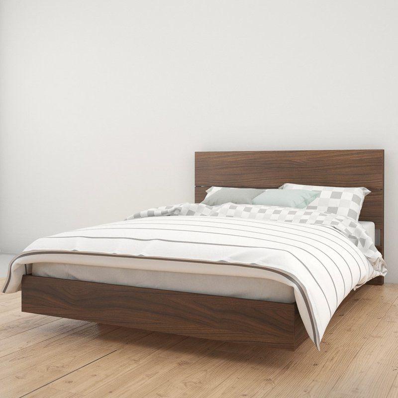 Nexera Alibi Platform Bed With Optional Modern Headboard Products